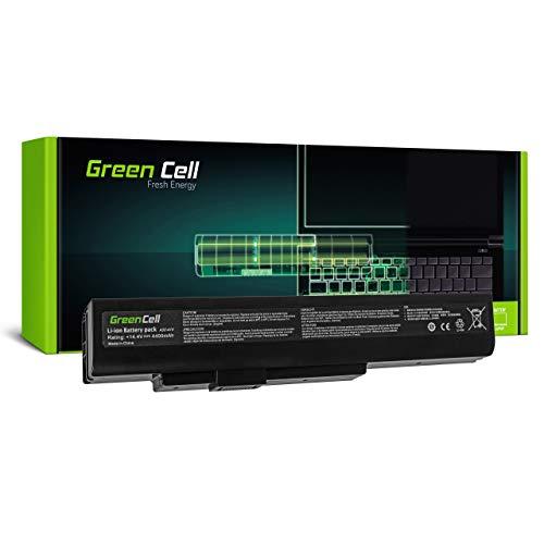Green Cell Akku für Fujitsu LifeBook N532 N532/E NH532 Gigabyte Q2532N Medion Akoya E6201 E6221 E6222 E6227 E6228 E6234 E7201 E7219 E7220 E7221 Laptop (4400mAh 14.4V Schwarz)