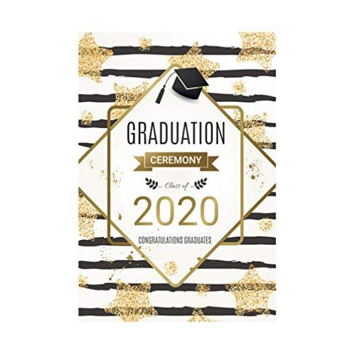 Garneck 1pc Achtergrond 2020 Afstuderen Decoratieve Gedrukte Doctorial Hoed Achtergrond Doek Photo Prop voor College University