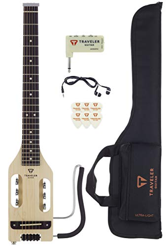 Traveler Guitar, 6-String Ultra-Light Acoustic, Right, Maple, Guitar Kit (ULA MPS SK)
