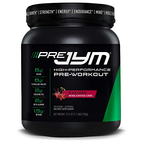 Pre JYM Pre Workout Powder - BCAAs, Creatine HCI, Citrulline Malate, Beta-Alanine, Betaine, and More   JYM Supplement Science   Black Cherry Flavor, 30 Servings
