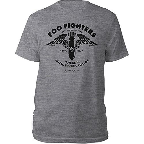Desconocido Foo Fighters FOOTS05MG01 - Camiseta para Hombre, Color Gris