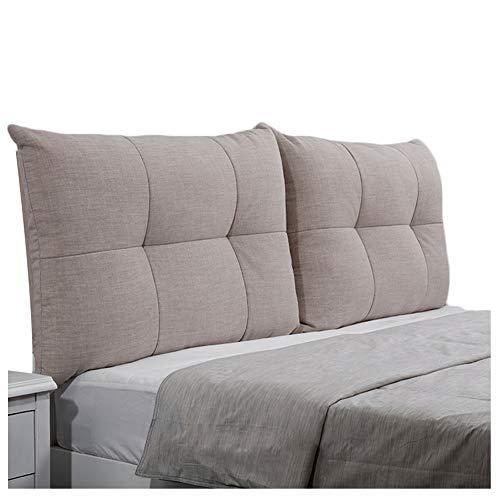 WENZHE Dossier De Lit Tête De Lit Coussin Wedge Pillow Housses De Coussins Oreiller Tissu Dossier Chambre Salon Lavable Ceinture Étui Souple, 6 Couleurs (Couleur : B, Taille : 180x60cm)