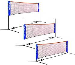 AKOZLIN Portable Adjust Height 2.8-5ft Badminton Net Set,10ft Wide Available for Indoor or Outdoor,for Badminton Tennis, Soccer Tennis, Pickleball, Kids Volleyball