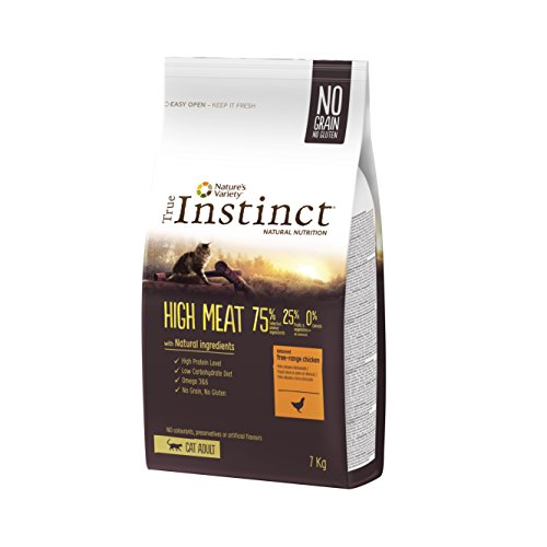 True Instinct High Meat Adult - Nature's Variety - Croquettes pour Chat Adulte avec Poulet Désossée - 7kg