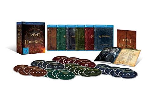 Mittelerde Collection: Die Hobbit- und Herr der Ringe-Trilogien als exklusive Sammleredition im Schuber (Extended Edition exklusiv bei Amazon.de) [Blu-ray]