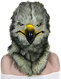 WNGCAR AU Carnival Moving Population Hooded Eagle Mimic Animal mask (Color : Grey)