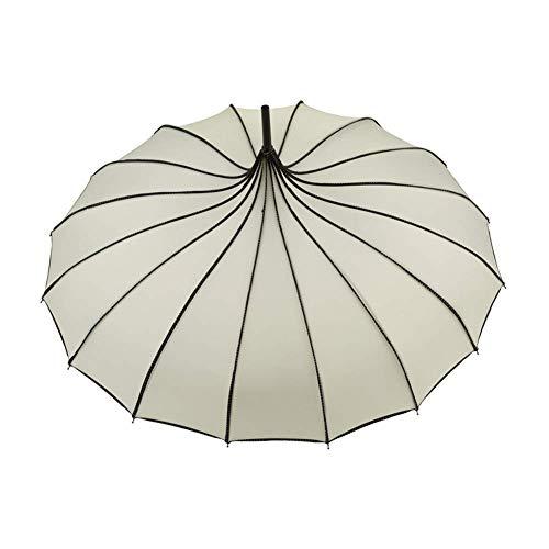 Mooyod Vintage Pagode Regenschirm Brautschmuck Hochzeit Party Sonne Regen UV Schutz Regenschirm