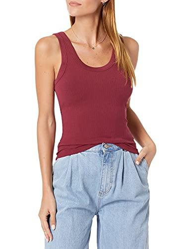 Marca Amazon - Michelle Camiseta sin mangas con escote redondo ajustada por The Drop