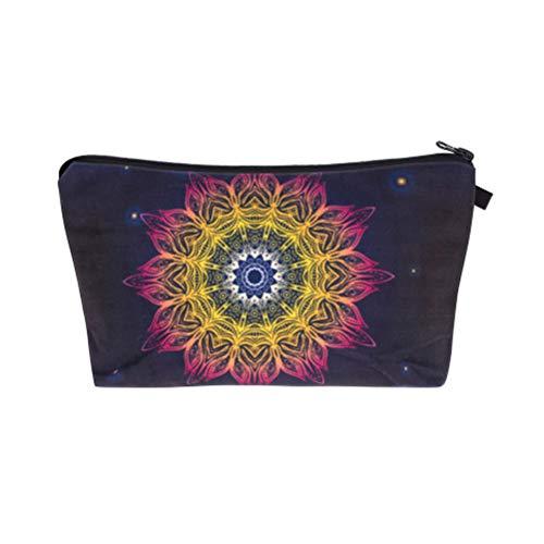 YourTops - Bolsa de maquillaje con diseño floral para mujer