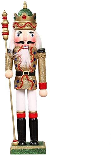 Waterfaill 1pc Cascanueces Navidad Regalos coleccionables de Madera Juguete de Marionetas estantes y mesas Decoracin de Fiesta de Navidad-O