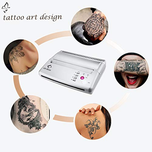Thermal Copier Tattoo Stencil Transfer Copier Printer Permanent Tattoos with 10 Free Stencil Sheets for Temporary and Permanent Tattoos Black Update Version (Black Tattoo Printer)