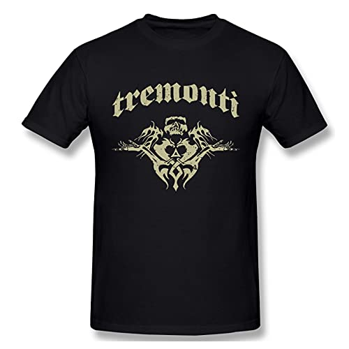 FANCYDAY Tremonti T Shirts For Men Short Sleeve T Shirt Men Tops Casual Sports Cotton Tee Shirt S Black