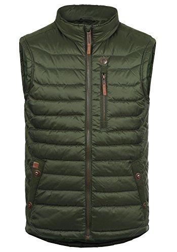 Blend Cemal Chaleco Acolchado De Plumas para Hombre con Cuello Alto, tamaño:S, Color:Duffel Bag Green (77019)