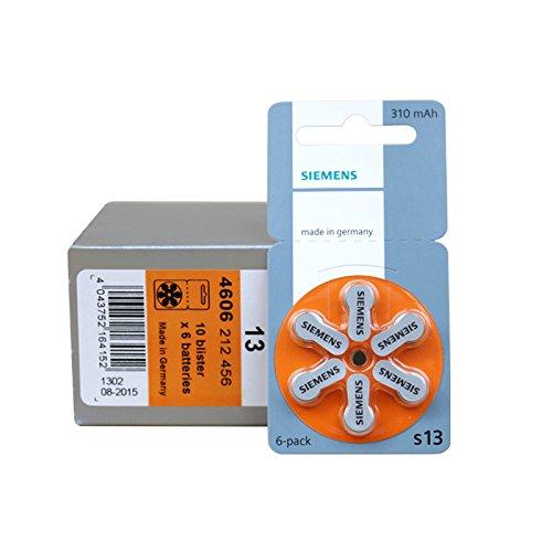 10 x 6 Zink-Luft Hochleistungs-Batterien - Siemens S 13