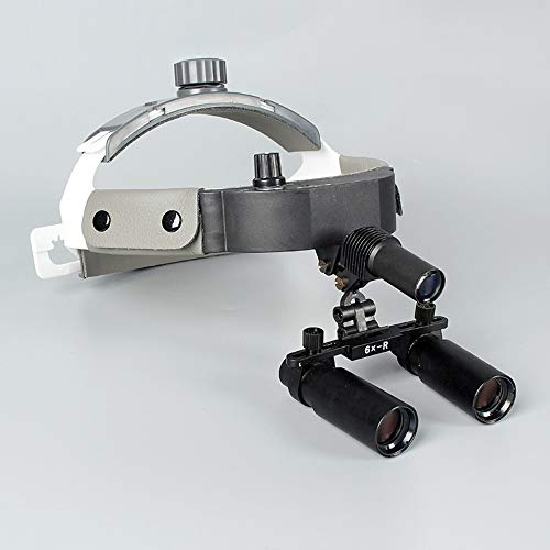 Medical Magnifying Glass 6 Times, Surgical Magnifying Glass + Headlight LED, Surgical Microscope Inspection Lamp