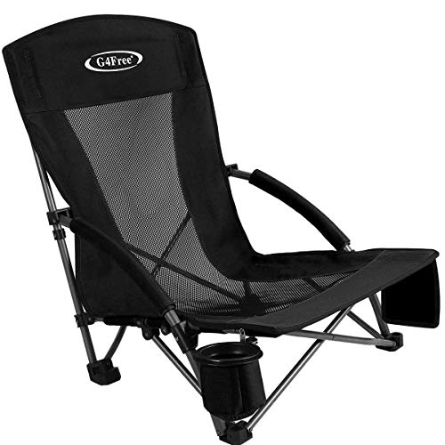 Upgraded Low Sling Beach Chair Concert Folding Chairs, Low...