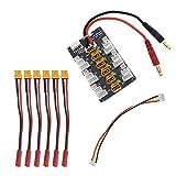 YINETTECH - Kit de tarjeta de carga paralela para batería de Li-Po con 6 conectores XT30 macho de...
