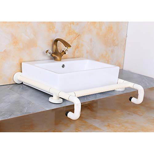 Hjjfs Rieles de Ducha Pasamanos de cerámica de la barandilla del Lavabo de la encimera/apoyabrazos del Lavabo/discapacitados perjudicados Barras de Apoyo para Inodoro (Color : Yellow)