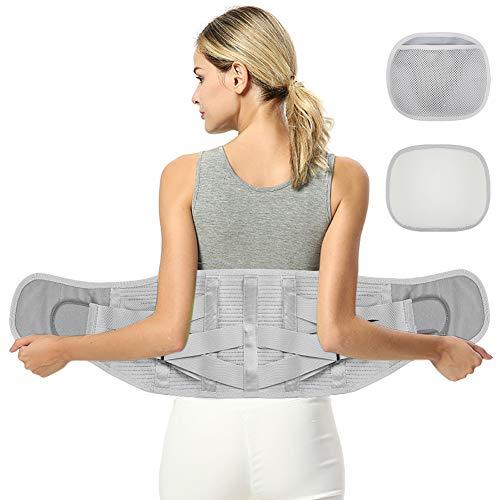 Fyore Cinturón Lumbar Soporte Lumbar Faja Lumbar Hombre y Mujer Regulable Tirador...