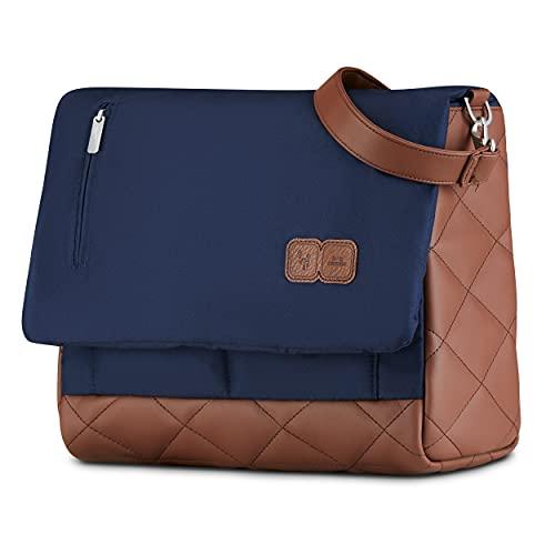 ABC Design Wickeltasche Urban Diamond Edition - Crossbody Bag mit Baby Zubehör – Messenger Bag - großes Hauptfach - breiten Schultergurt - Polyester - Farbe: navy