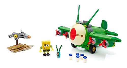Mattel Mega Bloks CNH 49 - Bob Esponja - Juguetes tiranos Aviones, edificación y construcción