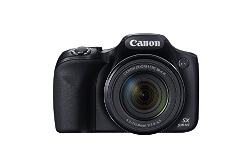 Canon PowerShot SX530 HS 16.0 MP CMOS Digital Camera with 50x Optical is Zoom (24-1200mm), Built-in WiFi, 3-Inch LCD and 1080P Full HD Video (Black) (Renewed)