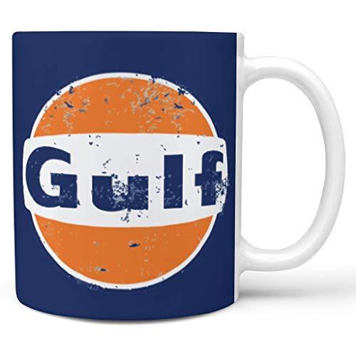 O5KFD&8 11 OZ Golf, der Retro läuft Getränke Tee Tassen mit Griff Porzellan Retro Style Becher - Orange Blau, Anzug für Wohnheim verwenden white3 330ml