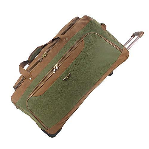 Lightweight Luggage Wheeled Holdall Trolley Suitcase Duffle Bag Travel Bag AR409 (Medium - 28' (H72xW37xD36 cm), Green)