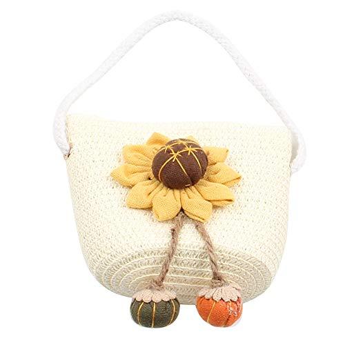 iKulilky - Bolso Bandolera para niña, Bolsa de Verano para niños, diseño de Flores, Monedero, Bolsillo con Cremallera, Mini Bolso para Viajes