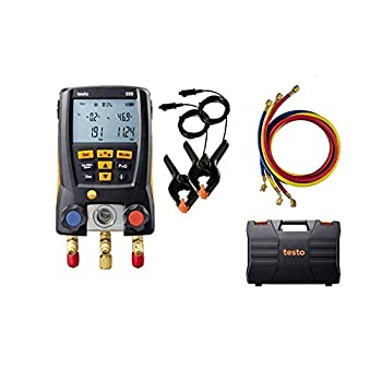 testo 550 I Digital Manifold Kit for air Conditioning Refrigeration Systems and Heat Pumps - with Bluetooth and Set of 3 Hoses
