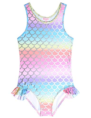 One-Piece Swimsuits for Toddler Girls 3t 4t Rainbow Mermaid Outfits Swimwear