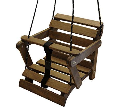 KML Große Schaukel Babyschaukel aus Holz 5 Einstellmöglichkeiten! Kinderschaukel Holzschaukel bis 60kg