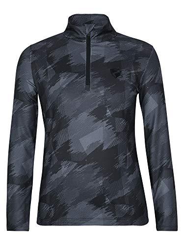 Ziener Jungen JILAS Junior Skipullover, Skirolli, Funktions-Shirt | Langarm, Atmungsaktiv, Black Mountain camo, 104