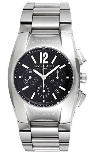 [ブルガリ] 腕時計 エルゴン ブラック文字盤 自動巻 クロノグラフ デイト EG35BSSDCH 並行輸入品 シルバー