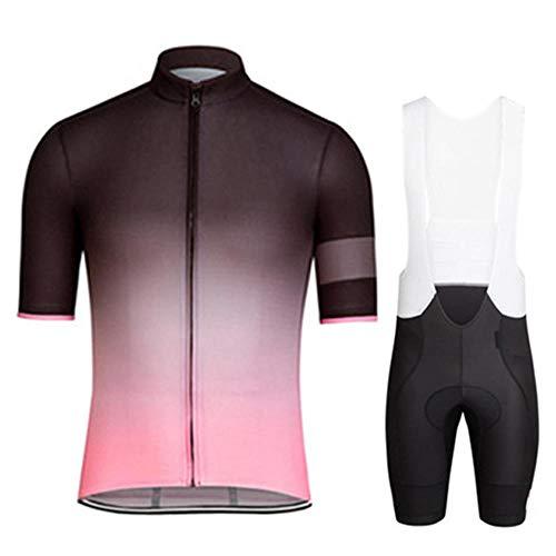 HXTSWGS Ropa Ciclismo Verano para Hombre Ciclismo Ropa,Conjuntos de Ropa de Ciclismo/Ropa de Ciclismo Transpirable para Hombres Conjuntos de Camisetas de Ciclismo de Manga Corta de verano-A09_5XL