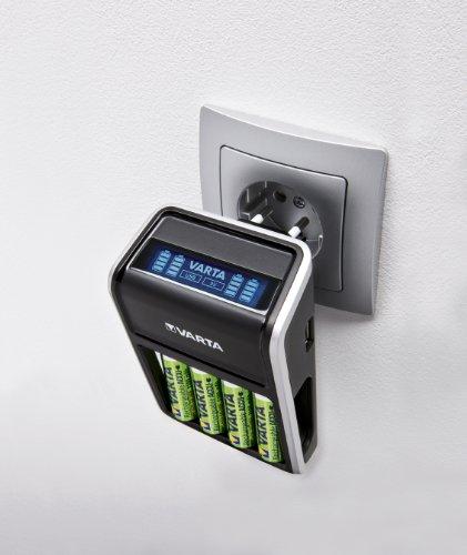 Varta LCD Plug Ladegerät (geeignet für AA/AAA/9V und USB-Geräte inkl. 4x AA 2100 mAh) schwarz - 7