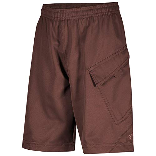 Scott Trail 10 Junior kinderfiets korte broek (incl. binnenbroek) rood bruin 2020