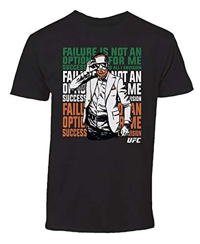 UFC Men's Conor McGregor Cartoon Tee Shirt Black