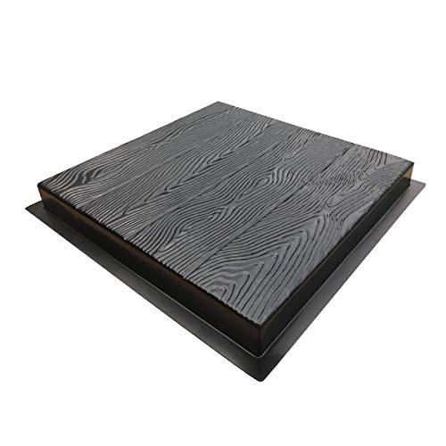 Lshbwsoif - Stampo per pavimentazione in legno con grani di legno, per cemento, giardino, patio, balcone, pavimentazione