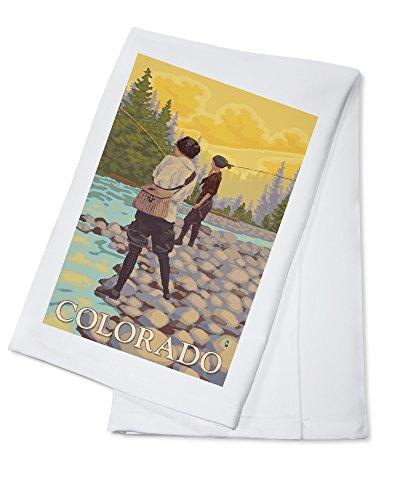 Colorado - Women Fly Fishing (100% Cotton Kitchen Towel)