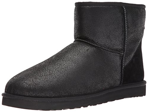 UGG Men's Classic Mini Winter Boot, Bomber Jacket Black, 10 M US