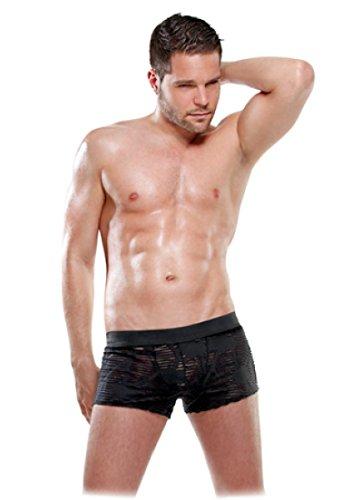 Pipedream FF Lingerie Boxer transparent pour homme Taille S/M