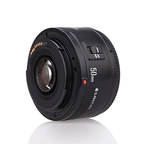 YONGNUO YN EF 50mm f / 1.8 AF-Objektiv 1: 1,8 Standard Prime Blendenöffnung Autofokus für Canon EOS DSLR-Kameras