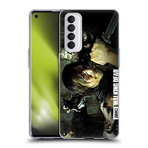 Head Case Designs Officially Licensed AMC The Walking Dead Daryl Knife Walkers and Characters Soft Gel Case Compatible with Oppo Reno 4 Pro