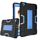 Cantis Galaxy Tab A 8.0 2019 Case(SM-T290/T295),Slim Heavy Duty Shockproof Rugged Full Body Protective Case for Galaxy Tab A 8.0 Inch 2019 Without S Pen Model SM-T290/SM-T295 (Black+Blue)