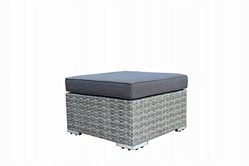 DEGAMO Loungeset VILETTA, Aluminium + Polyrattan hellgrau Bicolor, mit regenfesten Polstern dunkelgrau - 2