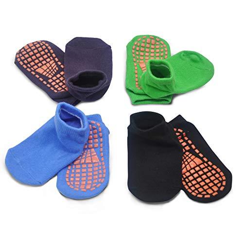 Kids Anti-Skid Socks Trampoline Children's Slide Gripper Socks For...