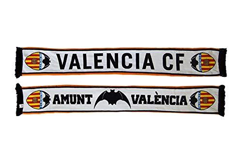 Bufanda Valencia CF Doble blanca Amunt