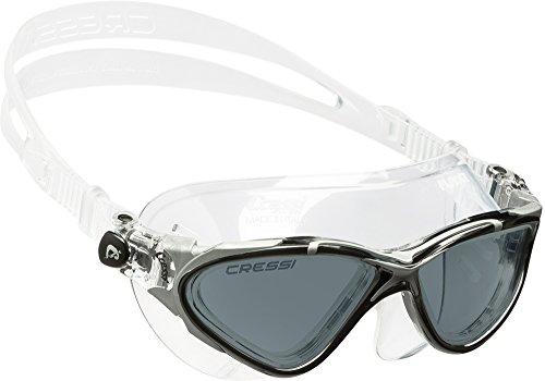 Cressi Planet Swim Goggles - Premium Anti Niebla Gafas de Natación Máscara 100% Anti UV, Transparente/Negro/Plata