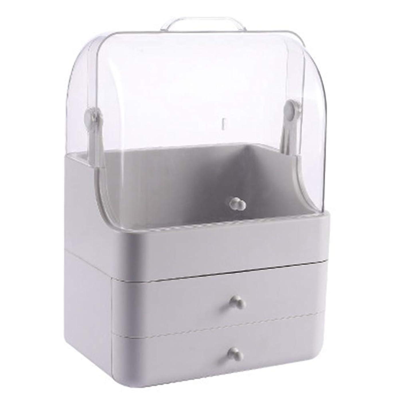 香港衝突するクラッシュ化粧品収納ボックス メイクボック コスメ収納 3段式 アクセサリボックス 多容量 引き出し式 整理簡単 持ち運び 蓋付き 防塵防水 透明 機能性 スキンケア用品 小物入れ 卓上収納 軽量